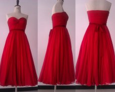 Tea-length bridesmaid dress, by DidoCouture on etsy.com