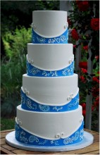 Wedding cake inspiration {via cupadeecakes.blogspot.com}