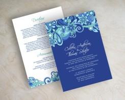 Wedding invitation, by appleberryink on etsy.com