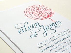 Wedding invitation, by blackberrygraphics on etsy.com