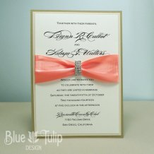 Wedding invitation, by mybluetulipdesign on etsy.com