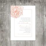 Wedding invitation, by pinklilypress on etsy.comv