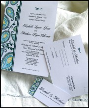 Wedding invitation, by RunkPockDesigns on etsy.com