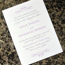 Wedding invitation, by twoforjoypaper on etsy.com