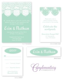 Wedding invitation set, by ComplementaryDesign on etsy.com