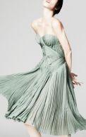 Zac Posen dress in greyed jade