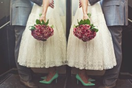 1950s wedding style {via lovemydress.net}