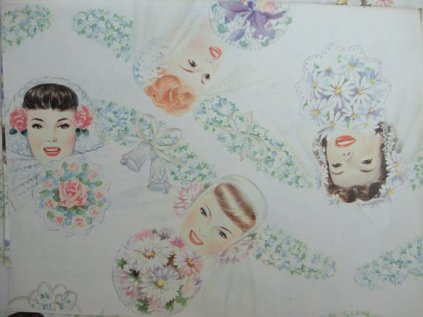 1950s wrapping paper, by JunqueSeeker on etsy.com