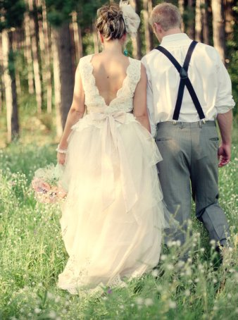 Blush wedding gown, by GlorybyJeannieLee on etsy.com