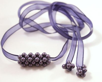 Bridesmaids necklace or wraparound bracelet, by CrystalHandmade on etsy.com