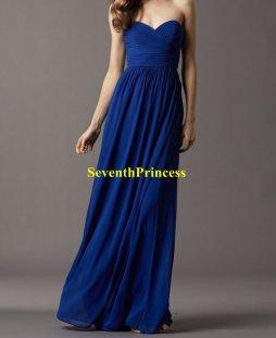 Cobalt bridesmaid dress, by seventhprincess on etsy.com