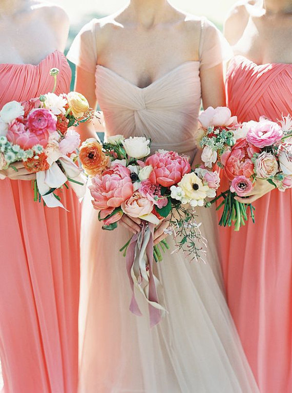 Coral bridesmaid dress, by FreePeoples on etsy.com   The ...