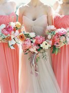 Coral bridesmaid dress, by FreePeoples on etsy.com