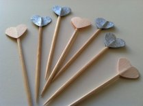 Cupcake toppers, by PaperTrailbyLauraB on etsy.com