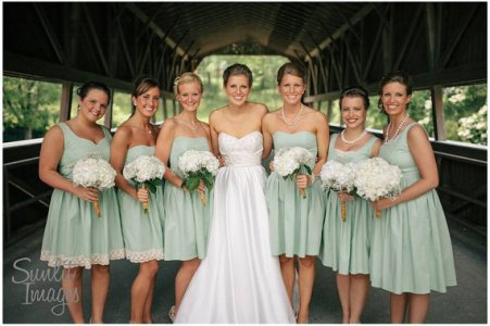 Custom-made cotton bridesmaid dresses in your choice of colour, by patriciavalery on etsy.com