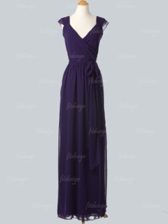 Dark purple bridesmaid dress, by fitdesign on etsy.com