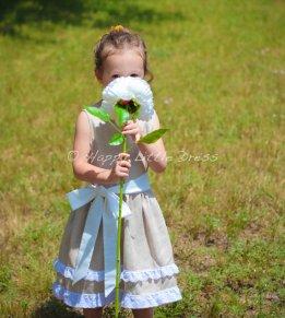 Flower girl dress, by HappyLittleDress on etsy.com