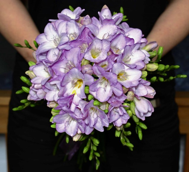 Lilac freesia bouquet {via heather-hartley.blogspot.com}