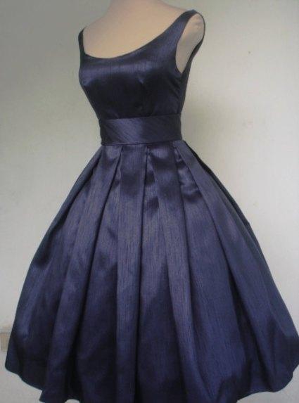 Navy bridesmaid dress, by elegance50s on etsy.com