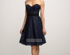 Navy lace bridesmaid dress, by WeddingBless on etsy.com
