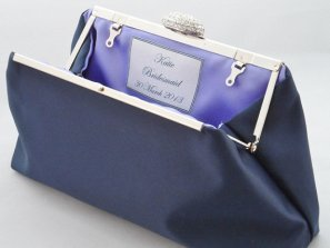 Personalised bridesmaid clutch purse, by EllaWinston on etsy.com