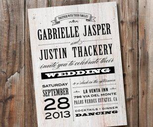 Printable wedding invitation, by SimplyFetchingPaper on etsy.com