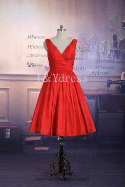 Red bridesmaid dress, by JYdress on etsy.com