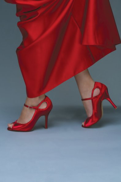 Red heels, by TheCrystalSlipper on etsy.com