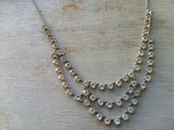 Rhinestone necklace, by lovegrade on etsy.com