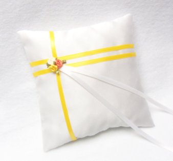 Ring pillow, by yellowroseaccents on etsy.com
