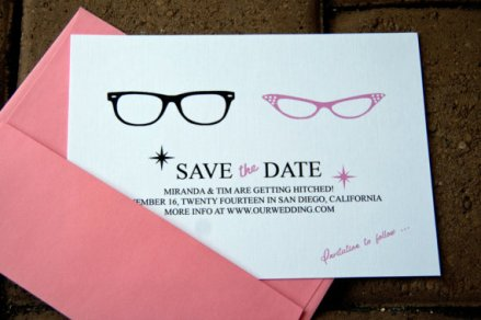 Save the date, by Bellezaeluce on etsy.com