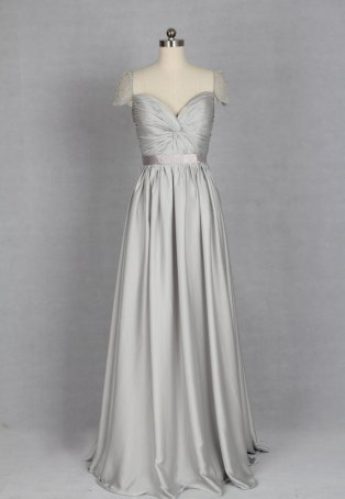 Silver wedding dress, by harsuccthing on etsy.com
