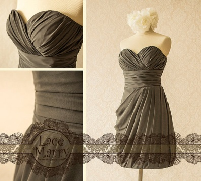 Sweetheart neckline bridesmaid dress, by LaceMarry on etsy.com