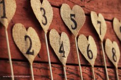 Table numbers, by byive on etsy.com