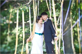 Teal and grey wedding {via weddingchicks.com}