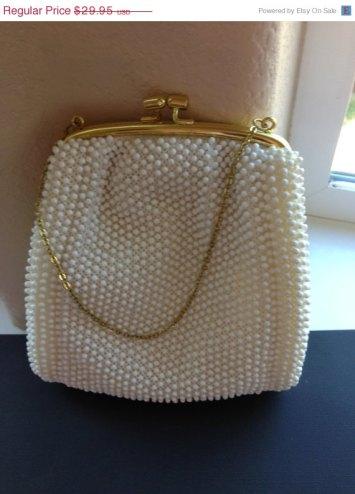 Vintage beaded purse, by BlackberryJamJewelry on etsy.com