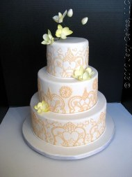 Wedding cake idea {via jacycakes.blogspot.com}