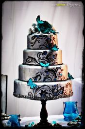 Wedding cake inspiration {via cakecentral.com}