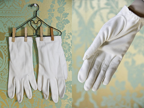 Wedding gloves, by BlueRoseVintage on etsy.com