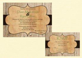 Wedding invitation, by DawnMarieCreations82 on etsy.com