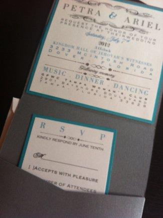 Wedding invitation, by ekt4 on etsy.com