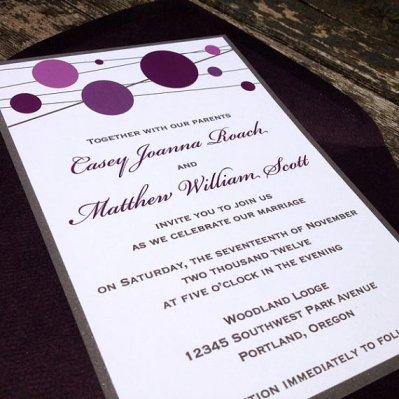 Wedding invitation, by FreshPaperStudios on etsy.com