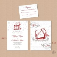 Wedding invitation, by OneLovePaperie on etsy.com