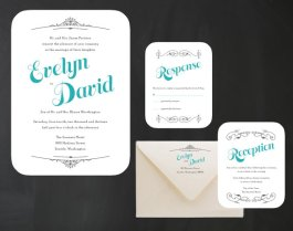 Wedding invitation, by inoroutmedia on etsy.com