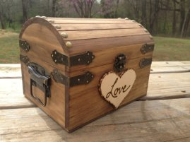 Wooden chest 'wishing well', by CountryBarnBabe on etsy.com