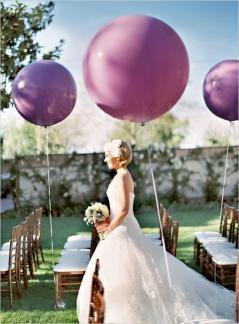 Balloons on the aisle {via blog.weddingpaperdivas.com}
