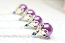Bridesmaid necklaces, by WaterwaifWeddings on etsy.com