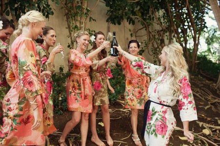 Bridesmaid robes, by silkandmore on etsy.com