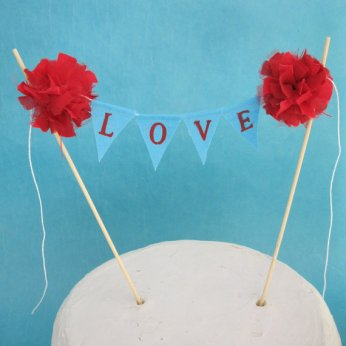 Cake topper, by Hartranftdesign on etsy.com