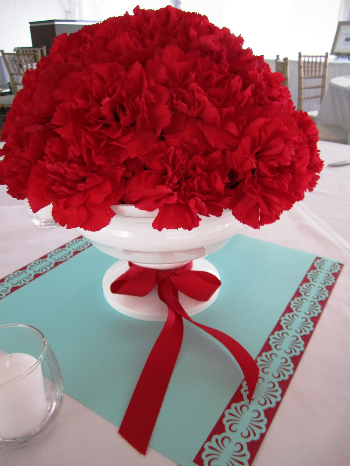 Tiffany blue and red wedding the merry bride